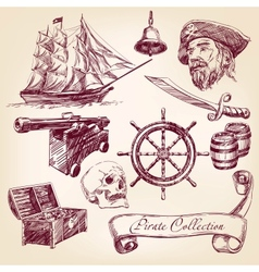 pirate collection vector image