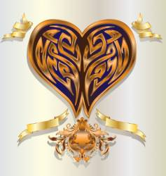 Baroque heart vector image