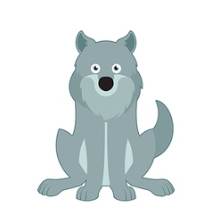 Sitting wolf vector