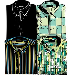 Men fashion shirts vector