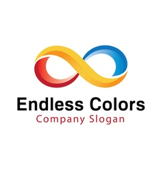 Endless colors abstract vector