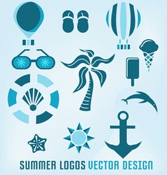 Summer logos design vector
