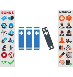 Medical books icon vector
