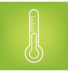 Thermometer line icon vector