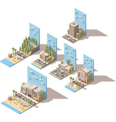 Isometric car travel vector