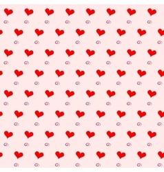Red hearts seamless pattern vector