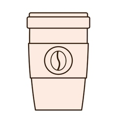 Coffee drink beverage glass icon vector