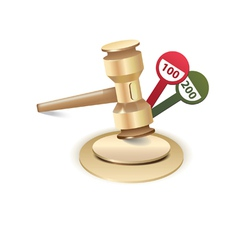 Auction gavel icon vector