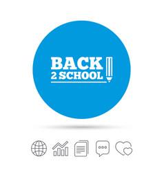 Back to school sign icon back 2 school symbol vector