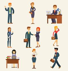 business people set corporate teamwork vector image