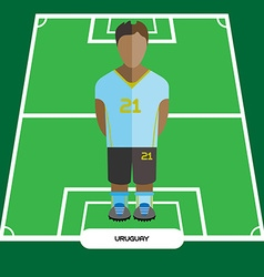 Computer game uruguay soccer club player vector