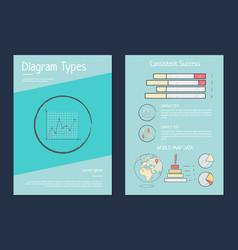 Daigram types presentation vector