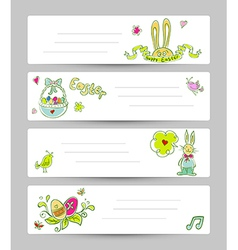 Easter templates vector