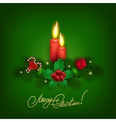 Elegant Christmas background with balls vector image vector image