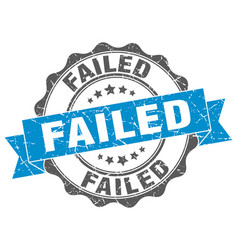 Failed stamp sign seal vector
