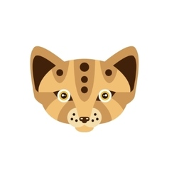 Fennec fox african animals stylized geometric head vector
