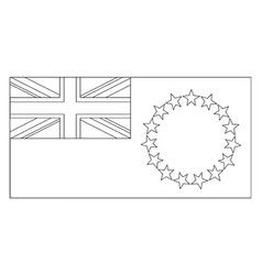 Flag of cook islands 2009 vintage vector