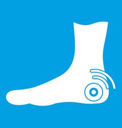 Foot heel icon white vector