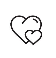 Heart mini icon cartoon vector