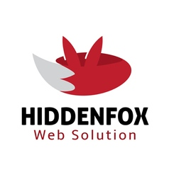 Hidden Fox Design vector image vector image