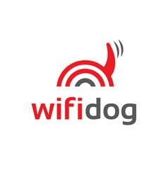 Icon of wifi dog vector