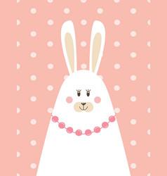 Mother rabbit in a scandinavian style vector