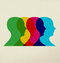 People profile silhouettes mind concept design vector image