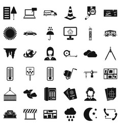 Professional dispatcher icons set simple style vector