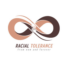 racial tolerance conceptual symbol martin luther vector image vector image