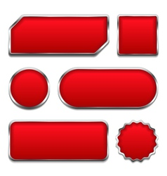 Red Buttons vector image
