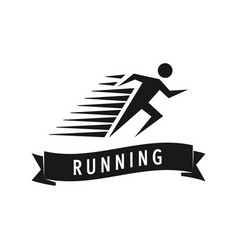 run man logo template of fast vector image vector image