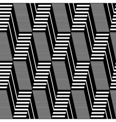 Seamless geometric op art pattern vector