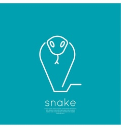 The symbol of the snake vector image vector image