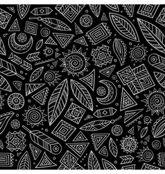 Tribal abstract native chalkboard seamless pattern vector image
