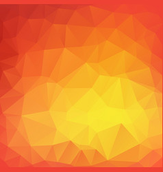 Yellow poly abstract background vector