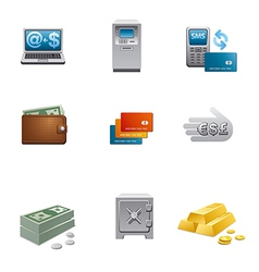 Banking icon set vector