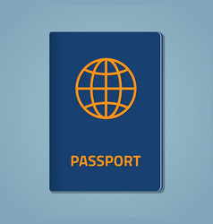 Passport closed flat vector