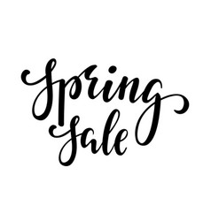 Spring sale hand drawn calligraphy and brush pen vector