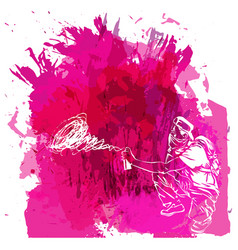 Paint spot with splash in watercolour style vector