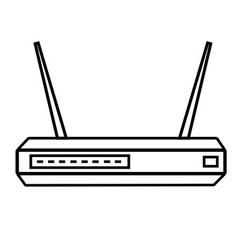 Wifi router vector