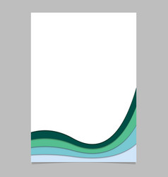 Page template from curved stripes vector