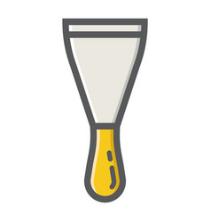 Putty knife filled outline icon build and repair vector