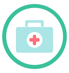 Medical suitcase vector