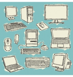 computers set converted v vector image