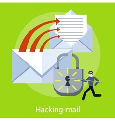 Hacking and e-mail spam vector