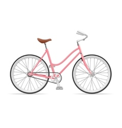 Stylish womens bicycle vector