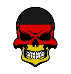 Germany flag colors on danger skull vector