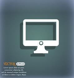 Computer widescreen monitor sign icon on the vector