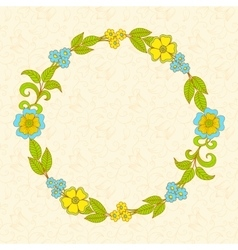 Flower wreath floral frame vector