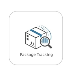 Package tracking icon flat design vector